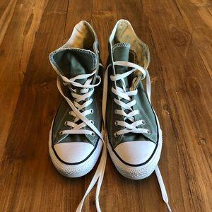 Men's Converse Chuck Taylor's T's Olive 11 White